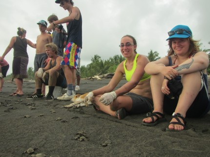 Volunteering with sea turtles at Playa Tulín