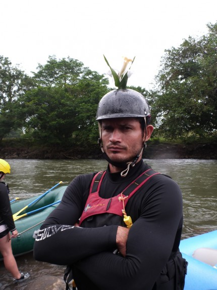 Instructor Chago is a very serious guy while on the river.