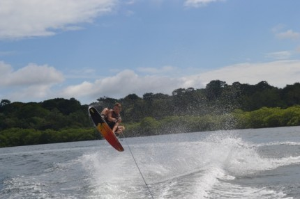 Wakeboarding in Panama