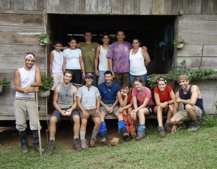 Students spending time in local family homestays in the rainforests of Costa Rica.